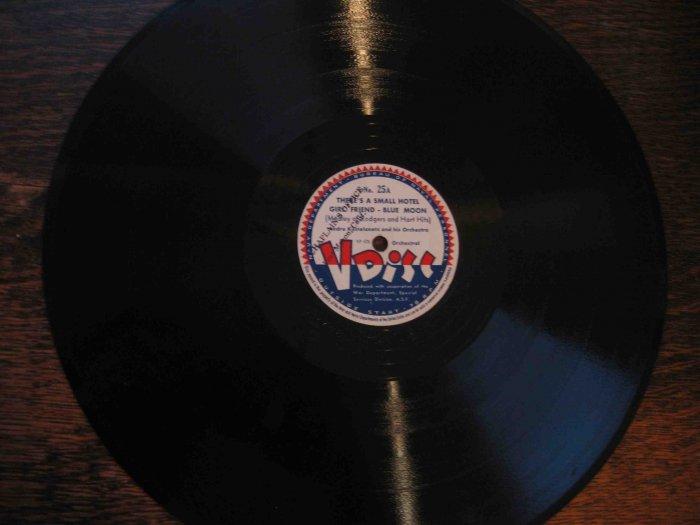 "Andre Kostelanetz 12"" 78 rpm V Disc, Rodgers & Hart medley"