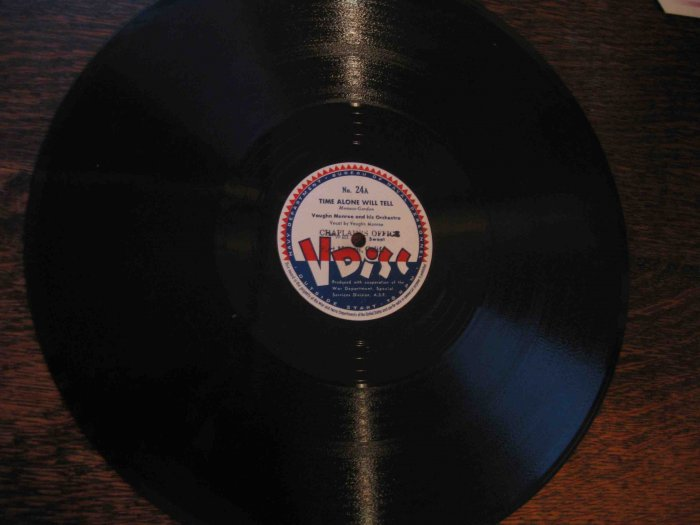 "Vaughn Monroe 12"" 78 rpm V Disc, ""Time Alone Will Tell"" / ""Going My Way"""