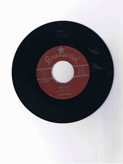 "Jackie Wilson 45 rpm single, ""Love Is All"" / ""That's Why (I Love You)"""