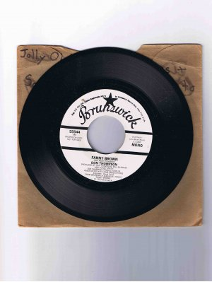 "Don Thompson 45 rpm funk single, ""Fanny Brown"" (1977)"