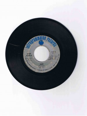 "Deep Purple 45 rpm single, ""Hush"" b/w ""One More Rainy Day"" (1968)"