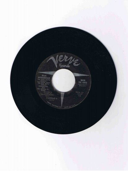 "Ella Fitzgerald 45 rpm single, ""Mack the Knife"" b/w ""Lorelei"" (Verve)"