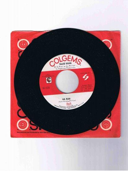 "Sajid Khan 45 rpm single, ""Getting to Know You"" b/w ""Ha Ram"" (Colgems), in sleeve"
