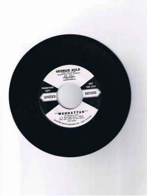 "Georgie Auld 45 rpm single, ""Manhattan"" / ""Harlem Nocturne"" (from ""Manhattan with Strings"")"