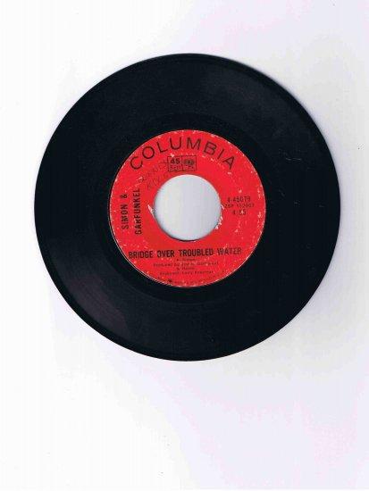 "Simon & Garfunkel 45 rpm single, ""Bridge over Troubled Water"" b/w ""Keep the Customer Satisfied"""