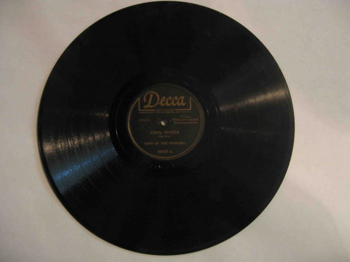 "Sons of the Pioneers 78 rpm record, ""Cool Water"" / ""Tumbling Tumbleweeds"" (Decca)"
