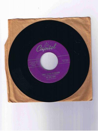 "Pee Wee Hunt 45 rpm single, ""Coney Island Washboard"" b/w ""Mama's Gone, Good Bye"""