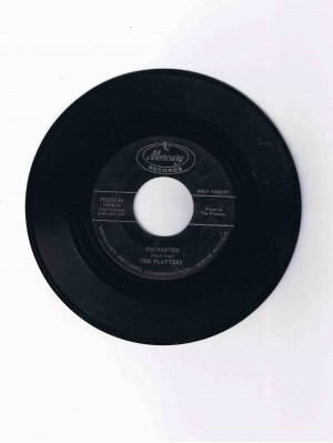 "Platters 45 rpm single, ""Enchanted"" b/w ""The Sound and the Fury"""