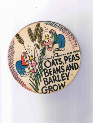 Children's 78rpm picture disk ('40s?), Oats, Peas, Beans / Muffin Man