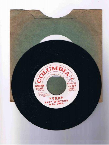"""Skip Winters 45 rpm single, """"Venus"""" b/w """"Quiet Night"""""""