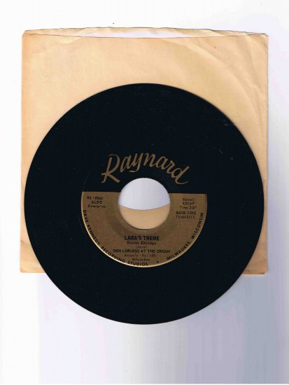 "Don Lorusso organ 45 rpm single, ""Lara's Theme"" (from Dr. Zhivago) / ""Spanish Flea"""