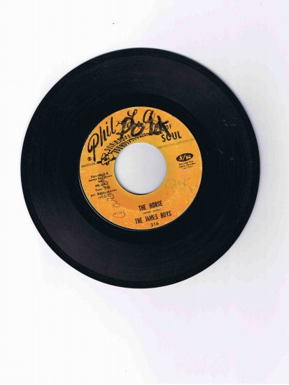 "James Boys (Jesse James) 45 rpm single, ""The Horse"" / ""The Mule"" (Phil-L.A. of Soul)"
