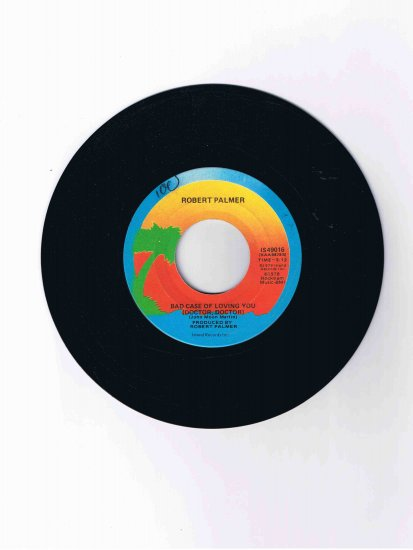 """Robert Palmer, 45 rpm single, """"Bad Case of Loving You (Doctor Doctor)""""/""""Love Can Run Faster"""" (1978)"""