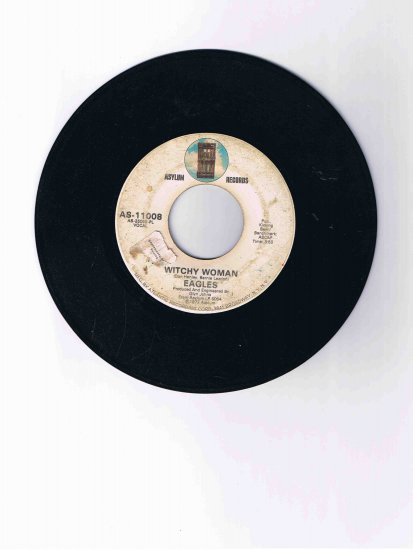 """Eagles 45 rpm single, """"Witchy Woman"""" / """"Earlybird"""" (1972)"""
