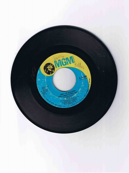 "Coven 45 rpm single, ""One Tin Soldier (Legend of Billy Jack)""/""I Guess It's a Beautiful Day"""