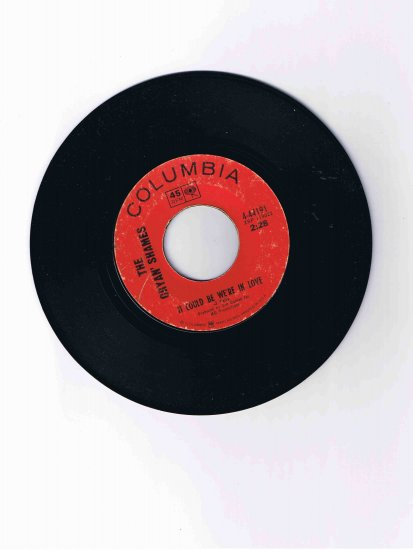 """Cryan' Shames 45rpm single, """"It Could Be We're in Love"""" / """"I Was Lonely When"""" (1968)"""
