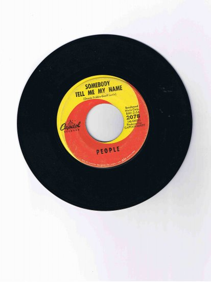 "People! 45 rpm single, ""I Love You"" / ""Somebody Tell Me My Name"""