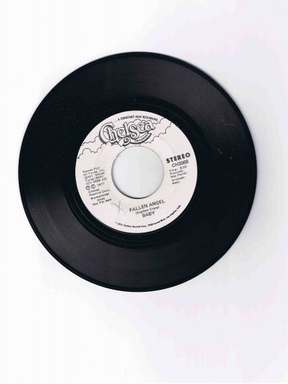 """""""Baby"""" (Stephen Crane?) 45rpm single, """"Fallen Angel"""" / """"Baton Rouge"""" (1970s) Near Mint"""