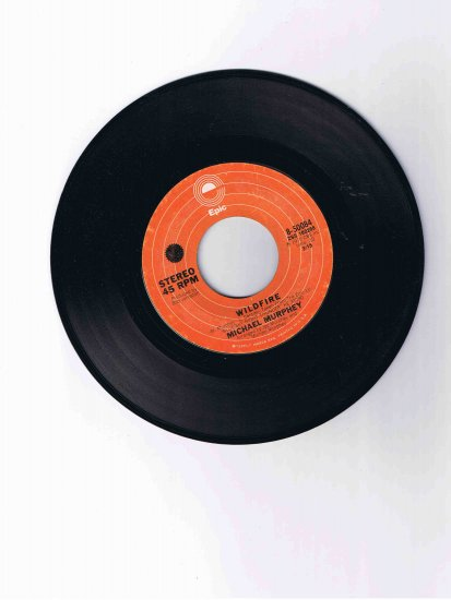 "Michael Murphey 45rpm single, ""Wildfire"" / ""Night Thunder"" (Epic, 1975)"