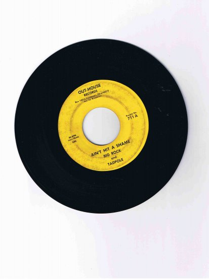 "Big Rock and Tadpole 45rpm single, ""Ain't Hit a Shame"" / ""Beep-Beep Song"" (adult novelty record)"