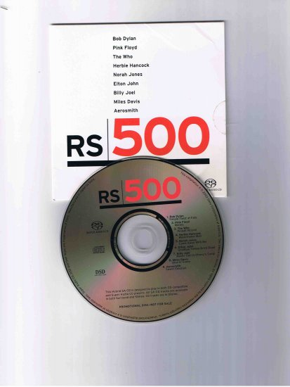 "Bob Dylan, Miles Davis, Norah Jones, et al., ""The RS500 Super Audio CD Sampler"""