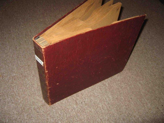 Vintage album for storing ten 10-inch (e.g. 78rpm) disks, maroon color