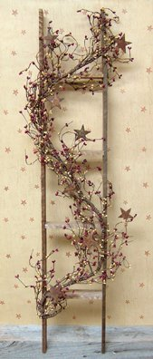 Rustic Ladder W/Garland