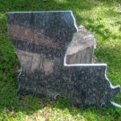 Louisiana MAP Shape Made out of Granite