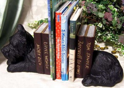 Cast Iron Scottie Book Ends