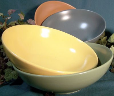 Fiesta Style Stoneware set of 4 Large Bowls
