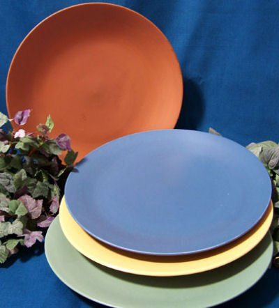 Fiesta style Stoneware set of 4 Large Plates