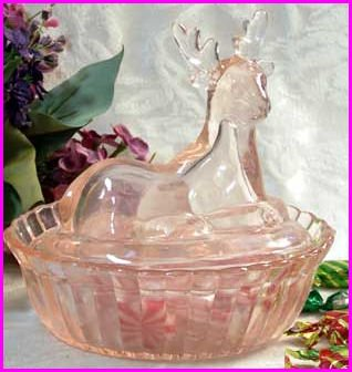 Pink Deer Candy Dish