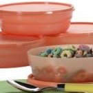 Tangerine Microwave Cereal Bowls Set of 4