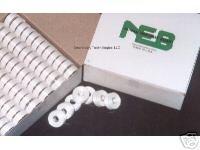 144 White Prewound NEB Embroidery Bobbins