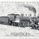 Pennsylvania Railroad Atlantic E3a Steam Engine Poster