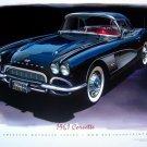1961 Chevrolet Corvette Coupe Poster Black NEW