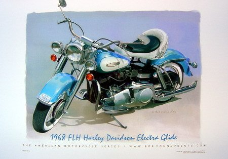 1968 Harley Davidson Motorcycle Poster FLH Electra Glide NEW