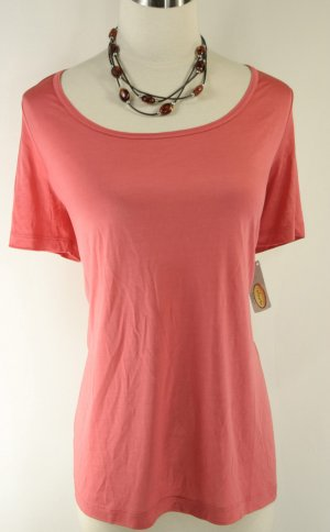 NWT NEW TALBOTS $48 CORAL SILK BLOUSE TOP 1X 14W 16W