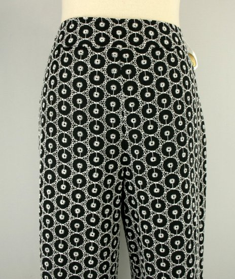 NWT NEW TALBOTS $118 BLACK EYELET SILK CROPPED PANTS 10