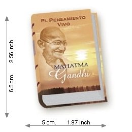 The Living Thought Of Mahatma Gandhi - Luxury - Mini Book