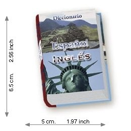 Spanish - English  Dictionary - Luxury - Mini Book