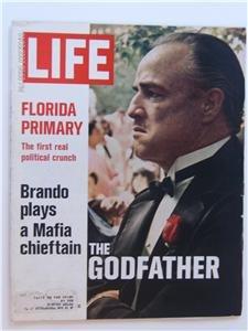 LIFE Magazine March 10, 1972 Marlon Brando as Godfather