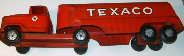 BUDDY L RED TEXACO TANKER TRUCK