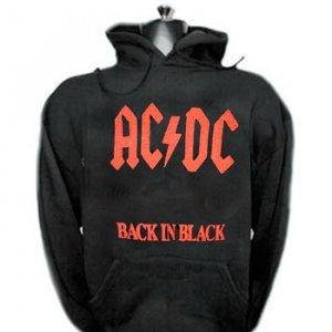 Ac Dc Hoodies sweathsirts Back in Black