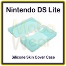 Frosted Blue Protective Silicone Skin Cover Case for the Nintendo DS Lite/NDS Lite