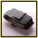 Black Universal Leather Cell Phone / PDA Case with Belt Clip