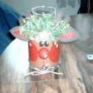Reindeer Mason jar candle
