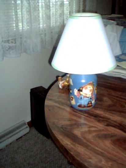 Boy Mason Jar Lamp