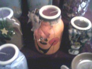 pumpkin mason jar candle