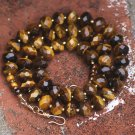 Brown Tigereye Gold Strand Necklace